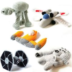 Star Wars Amigurumi Vehicle Patterns -  This has to be the coolest crocheted thing ever!!! Mom!!