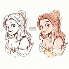 ketching disney princesses during work breaks? Disney Drawings, Cute Drawings, Drawing Sketches, Disney Princess Art, Disney Fan Art, Disney Princesses, Character Drawing, Character Design, Itslopez