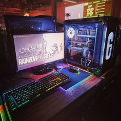 The Best Gaming Desk Decor Ideas With Computer Setup 14 Good Gaming Desk, Simple Computer Desk, Gaming Computer Desk, Computer Desk Setup, Gaming Room Setup, Pc Setup, Gaming Rooms, Computer Build, Pc Desk