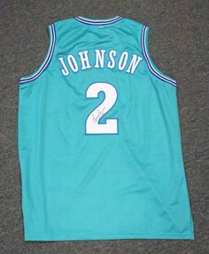 4e2ac27a7 ... canada sportsmemorbilia 5897 larry johnson 2 signed charlotte hornets jersey  autograph sz xl jsa coa a9b53