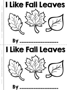A FREEBIE for Fall! i can tape the leaves underneath and the kids color over the paper to discover the different leaves, and or, they can color the printed leaves Fall Preschool Activities, Kindergarten Literacy, Fall Crafts For Preschoolers, Preschool Fall Crafts, Reading Activities, Therapy Activities, Literacy Centers, Worksheets, Tree Study