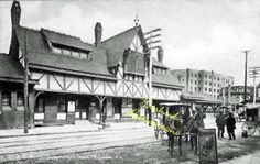 P&R RR Depot at 13th Street Shamokin, PA - 1913