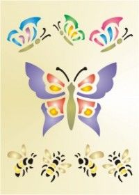 Free Printable Butterflies Stencil - This site has several free stencils