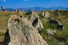 """Karahunj : The oldest stone """"astronomical"""" observatory in the world. Zorats Karer (Armenian: Զորաց Քարեր), also called Karahunj or Carahunge) is an ancient archaeological site near the city of Sisian in the Syunik province of Armenia.  *It predates England's Stonehenge*  -About 223 large stone tombs can be found in the area. -Period: Middle Bronze Age to Iron Age"""
