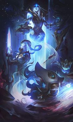 3 set illustration for the Cosmic skinline (League of Legends). Ashe the queen of the cosmos. Xin Zhao her Royal Guard keeping the balance of light and dark. And Lulu supporting and creating life. Together they form the Cosmic Royal Court. I imagined Ashe Lol League Of Legends, Draven League Of Legends, Akali League Of Legends, League Of Legends Characters, Legend Of Legends, Master Yi, Game Character, Character Design, League Of Legends Personajes