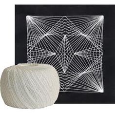 """This project shows you how to make intricate Geometric String Art with just card stock, a needle and white string. For dot pattern examples, click <a href=""""/pdf/string-art-patterns.pdf"""" target=""""_blank"""">here</a>."""