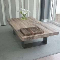 Industrial Style Reclaimed Wood and Steel Dining Table - Reserved for Christina