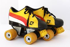 Vintage Retro Roller Skates // Candy Corn Colored // Size 5 by vintageavacado on Etsy https://www.etsy.com/listing/105602736/vintage-retro-roller-skates-candy-corn