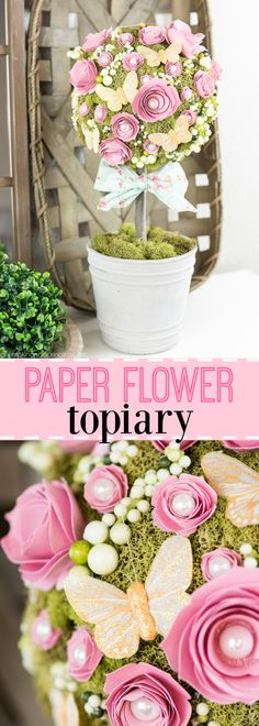 Get Spring ready with this DIY Floral Topiary