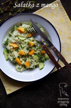 Kulinarne przygody Gatity: Sałatka z mango i zielonym majonezem