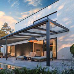 Rooftop Terrace Design, Contemporary Patio, Gazebo Pergola, Modern Farmhouse Exterior, Garden Bar, Decks And Porches, Outdoor Entertaining, Garden Design, Outdoor Structures