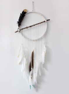 Whether they actually help bring good dreams or not, dreamcatchers can be beautiful pieces of art. We especially like this DIY's atypical design--instead of a traditional interwoven center, the stick cuts a stark line across the hoop. It's a combination of natural materials with a modern twist.