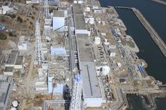 Crippled Fukushima nuclear powerplant - photo taken from unmanned drone 2013.