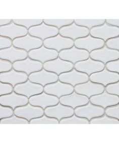 "Clayhaus Sheeted Mosaic Tile 3"" Ogee Cloud"