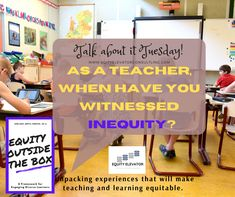 My first experience witnessing inequity influenced me to always respond. Over time I learned how to respond in inequitable situations in the right way to impact change. #EquityOutsidetheBox #EquityElevator #EETalkAboutIt #Equity #Education Questions To Ponder, This Or That Questions, Home Equity, Elevator, The Outsiders, Inspirational Quotes, Teacher, Student, Change