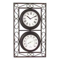 Outdoor Clock And Thermometer Mantle Desk Clocks For