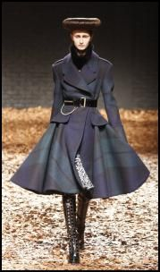 Check Military Coat By McQueen.
