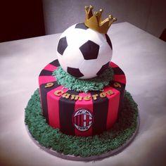 "Soccer ""AC Milan"" cake made by sweetsabbys"