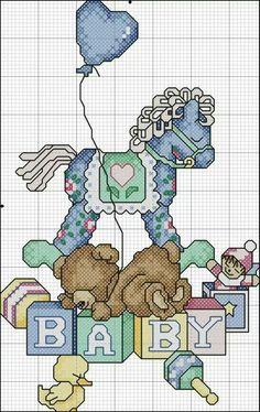 schema Cross Stitch For Kids, Cute Cross Stitch, Cross Stitch Cards, Cross Stitching, Cross Stitch Embroidery, Embroidery Patterns, Cross Stitch Sampler Patterns, Cross Stitch Designs, Baby Kind