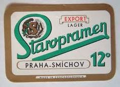 Beer label, Czechoslovakia