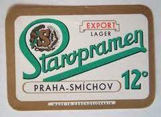 Beer label, Czechoslovakia