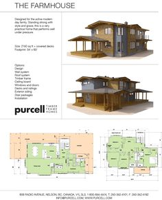 Purcell Timber Frames - The Precrafted Home Company - The Farmhouse