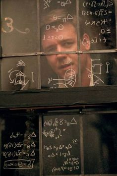 """""""A Beautiful Mind"""" ~ starring Russell Crowe. This film is based on the life of John Nash, a mathematical genius and Nobel Laureate in Economics who suffered from schizophrenia. Oscar Best Picture, Best Picture Winners, Cinema Tv, I Love Cinema, Jennifer Connelly, Movies And Series, Movies And Tv Shows, Math Movies, Beautiful Mind Quotes"""