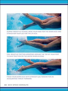 Swim Speed Workouts: Proper Freestyle Kicking Technique and how to get rid of leg cramps during freestyle swimming kick sets Swimming Drills, Swimming Memes, Competitive Swimming, Swimming Tips, Speed Workout, Pool Workout, Swimming For Beginners, Freestyle Swimming, Swim Technique