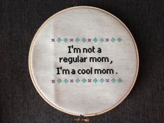 Mean Girls Cool Mom Cross Stitch by ReywasEmporium on Etsy