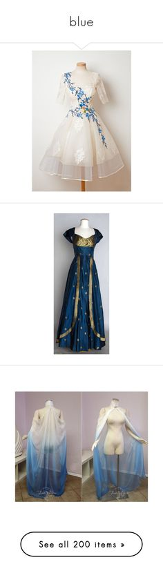 """blue"" by bluesakurarose on Polyvore featuring dresses, costumes, lady halloween costumes, women's halloween costumes, ladies halloween costumes, womens costumes, lady costumes, jewelry, necklaces and long blue necklace"