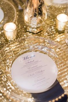 round wedding menu card idea; photo: Dana Fernandez
