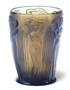 grey Lalique vase