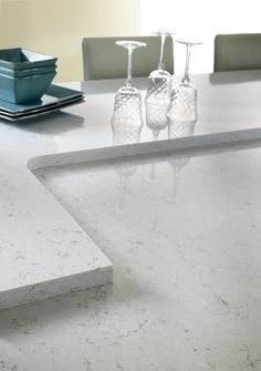 Waverton from Cambria's Marble Collection. #Cambria #CambriaQuartz #Quartz