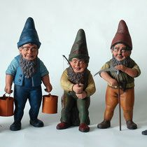 3 of 5 Romeiss Gnomes ~1930, sold
