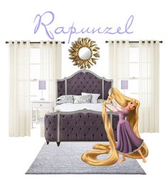 """Rapunzel's Bedroom"" by pepsicola2269 on Polyvore featuring interior, interiors, interior design, home, home decor, interior decorating, Royal Velvet, ESPRIT, Bungalow 5 and Haute House"