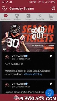 HokiesXtra Gameday  Android App - playslack.com , The official Virginia Tech Hokies Gameday application is a must-have for fans headed to campus or following the Hokies from afar. With FREE LIVE AUDIO, interactive social media, and all the scores and stats surrounding the game, the Virginia Tech Hokies Gameday application covers it all! Features Include: + LIVE GAME AUDIO - Listen to free live audio for football games and other sports throughout the school year + SOCIAL STREAM - View and…
