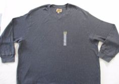 The Foundry Supply Men T Shirt 4XL Gray Solid Thermal Long Sleeves Cotton 1708 #TheFoundrySupply #BasicTee