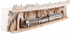 Illuminated stand 'Train ride through the Ore Mountains' for ...