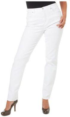 Gloria Vanderbilt Amanda Stretch Jeans 14 Pure white