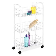Rolling Portable Shelf Storage Organizer Rack Wire Basket Dorm Shelving  Cart #Unbranded
