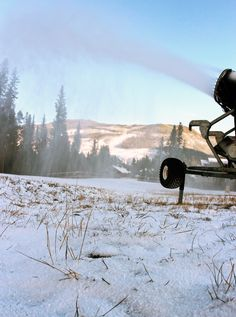 YES! Snowmaking has begun at Keystone, October 17, 2012. #winter #snow