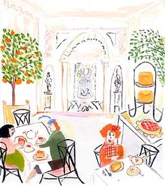 Artwork Maira Kalman. Let's meet here for coffee & dessert.