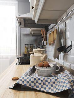 рейлинг в кухне в скандинавском стиле