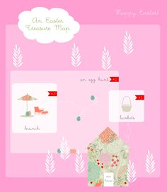 a sweet Easter Treasure Map for children