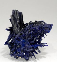 Azurite. Kerrouchen, Khénifra, Morocco. / Mineral Friends <3