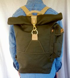 Canvas Rolltop Backpack | If ever there was a backpack designed with adventuring in mind... | Backpacks