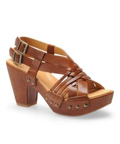 Tan Vachetta Dawn Platform Wedge by Kork-Ease on #zulily today!