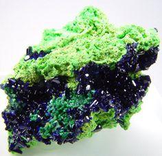 Arsentsumebite & Azurite from Tsumeb Mine, Otavi Highlands, Namibia. Arsentsumebite: Lead Arsenic Copper Sulfur