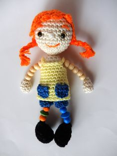 Amigurumi Pippi Longstocking Doll - FREE Crochet Pattern / Tutorial