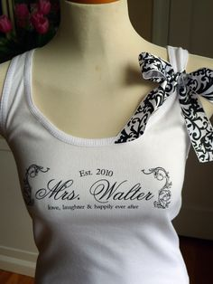 Bride tank top, The future Mrs. Tank Top, bride, wedding, wedding attire, Bridesmaids, Mrs.Shirt, Bridal top by rachelwalter on Etsy https://www.etsy.com/transaction/137865541